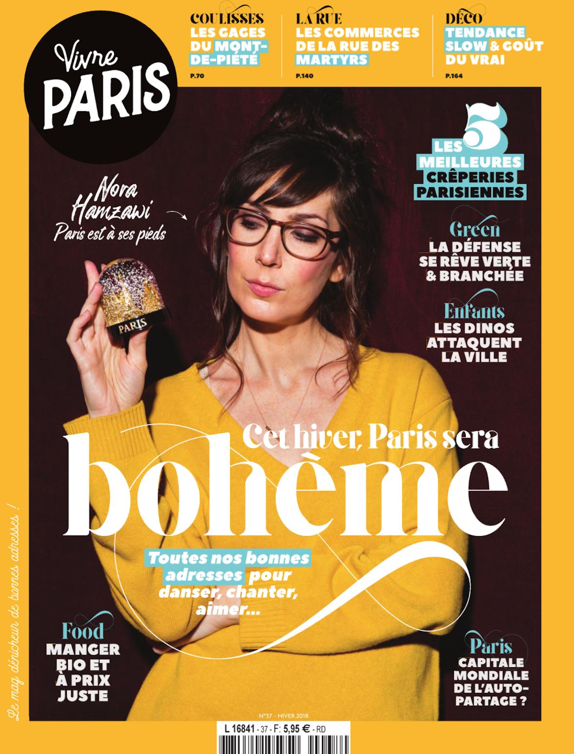 Couverture magazine vivre paris