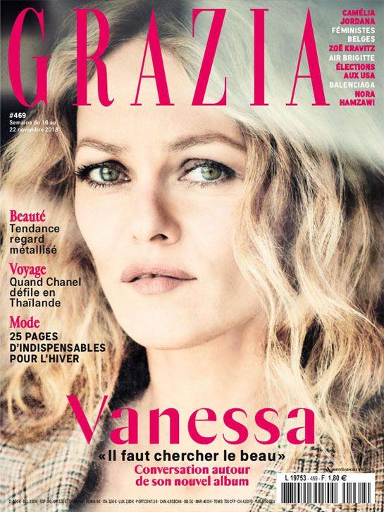 Couverture magazine grazia vanessa