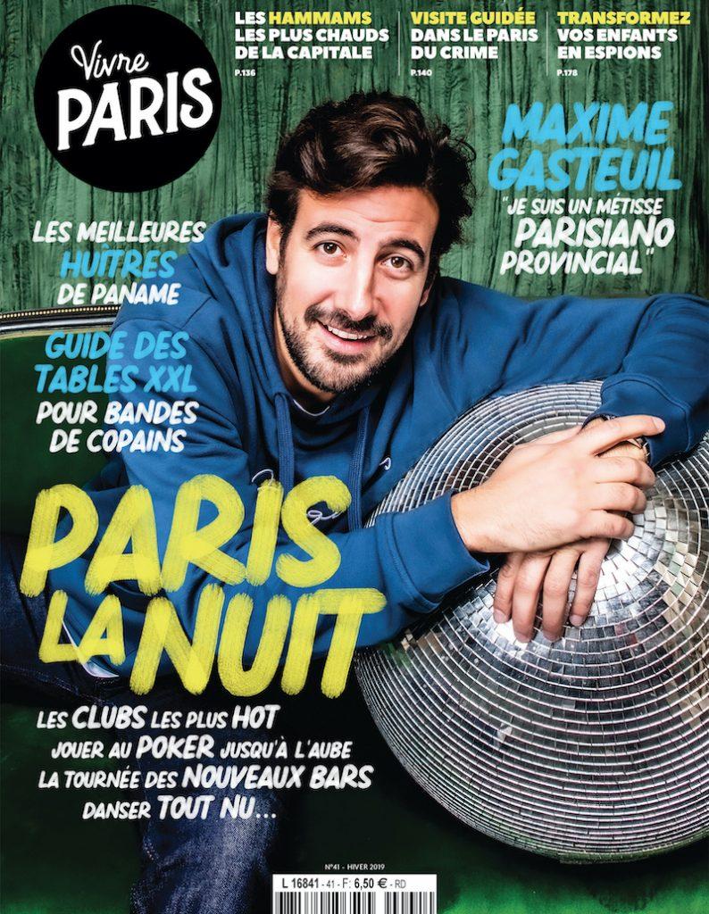 Couverture magazine vivre paris hiver 2019
