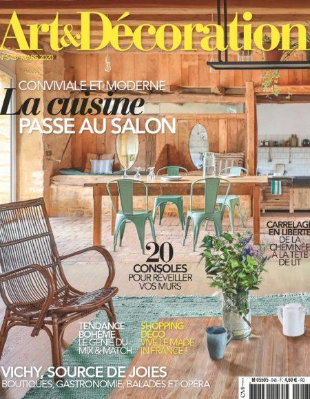 Couverture magazine art&deco mars 2020